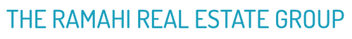 The Ramahi Real Estate Group Logo in a light teal on a white background